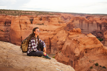A hiker in the Canyon de Chelly National Monument Wall mural