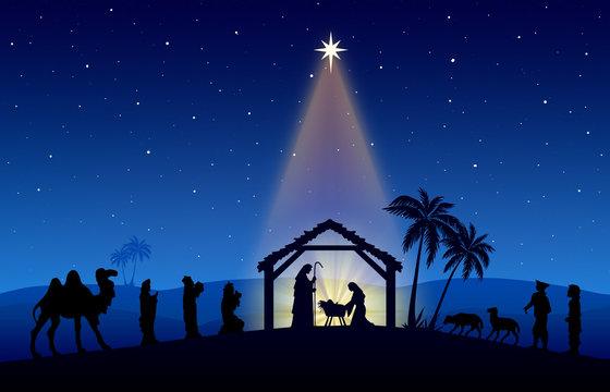 "Nativity Scene"" photos, royalty-free images, graphics, vectors & videos |  Adobe Stock"