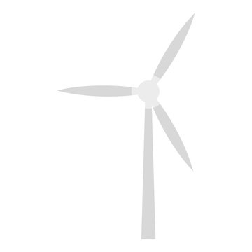 Wind turbine icon. Flat illustration of wind turbine vector icon for web design