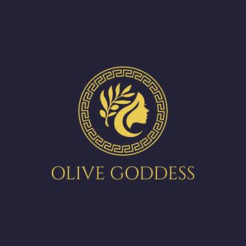 Olive Goddess Greek Logo