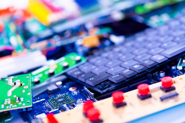 Electronic devices waste ready for recycling