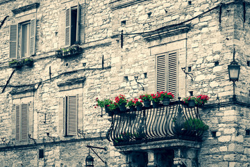 vintage medieval Italian building