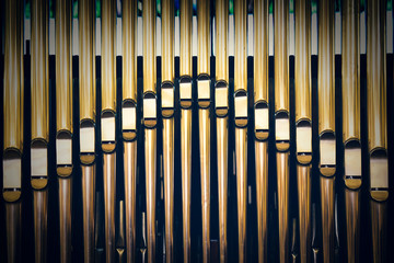 vintage religious pipe organ background