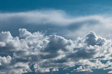Canvas Prints Heaven Dark thunderstorm and cirrus clouds in sky.