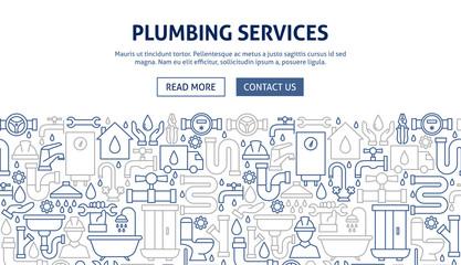 Plumbing Services Banner Design