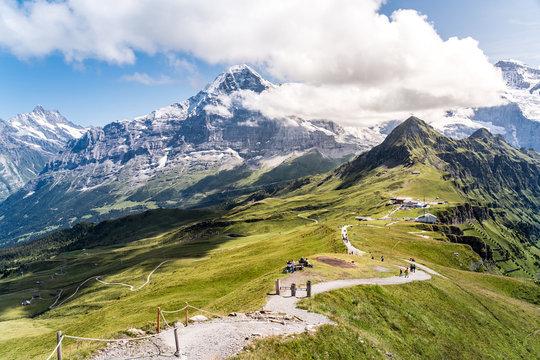 On the Top vom Männlichen, Wengen, Grindelwald, Eiger, Berner Oberland, Schweiz