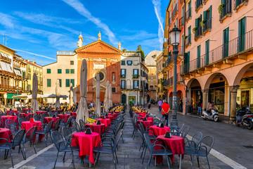 Piazza dei Signori and Church of St. Clement in Padua (Padova), Veneto, Italy