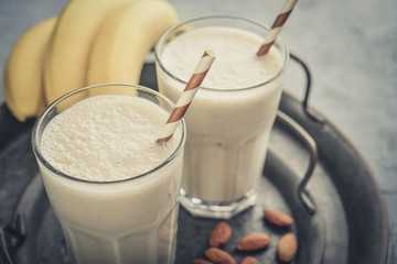 Banana smoothie with almond milk