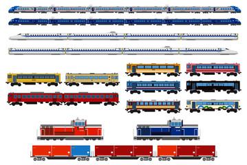 日本の電車機関車セット