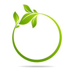 Ecology, organic with leafs eco style. Business concepts to protect nature