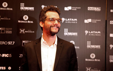 Brazilian director and screenwriter Wagner Moura poses for a picture during the SANFIC International Film Festival in Santiago