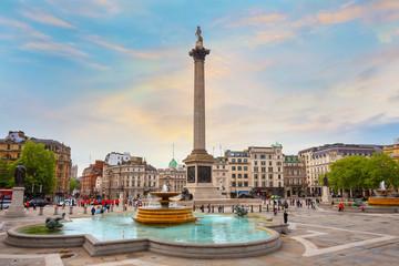Nelson's Column at Trafalgar Square in London, UK