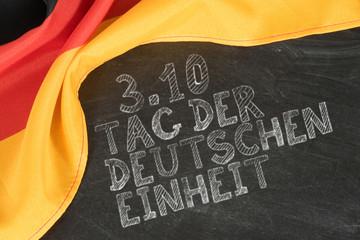 Flagge von Deutschland und Tag der deutschen Einheit