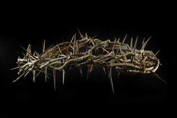 Crown of Thorns Over Dark Background