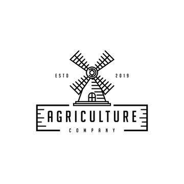 windmill logo design vector template