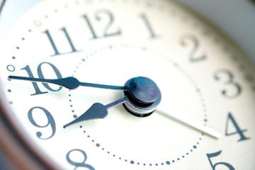 The image of the alarm clock face nine o'clock.