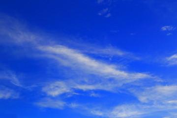 夏 青空 はけ雲