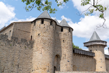 ancient fortress Carcassonne France in Languedoc