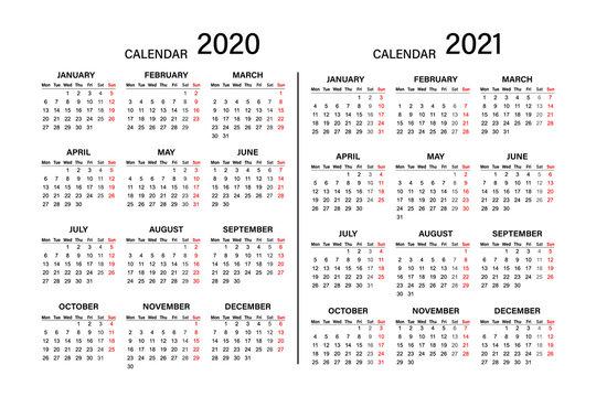Calendar 2019 2020 year. Week starts on Monday. Year 2020-2021, Calendar Design.