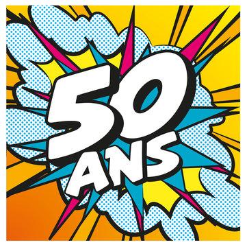 carte anniversaire pop art 50 ans 8