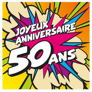 carte anniversaire pop art 50 ans 1