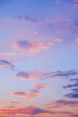 Fotobehang Golf Violet ,blue, pink and yellow color sky cloud beautiful nature texture abstract background.