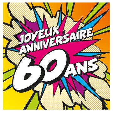 carte anniversaire pop art 60 ans 1