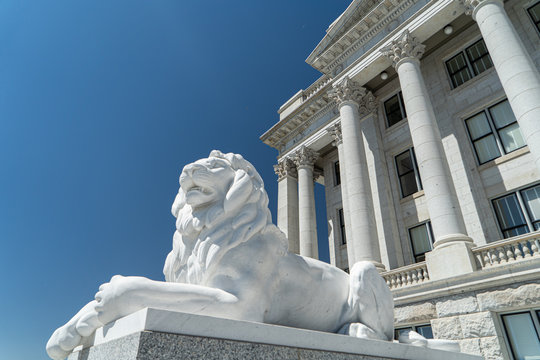 Capitol building SLC utah lion