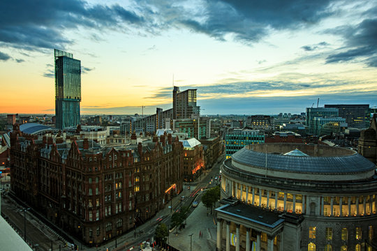 Manchester, UK, evening, streets