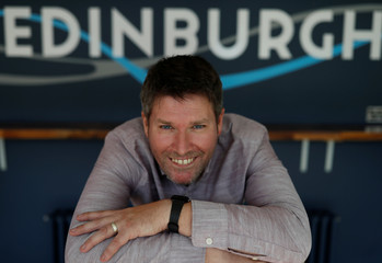 Comedian Mark Nelson poses for a photograph during an interview in Edinburgh