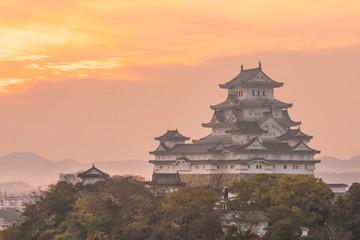View of Himeji Castle (autumn season) in Japan