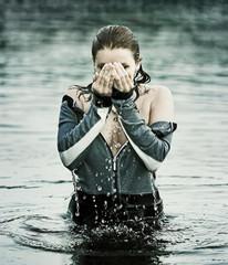 Erfrischung im Wasser