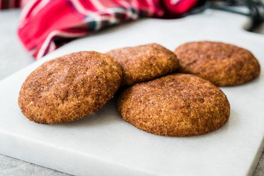 Cinnamon Cookies Snickerdoodle on Marble Board.