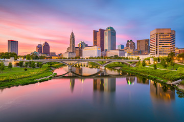 Wall Mural - Columbus, Ohio, USA skyline on the river
