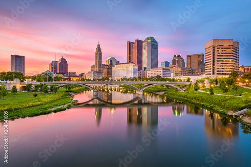 Fototapete Columbus, Ohio, USA skyline on the river