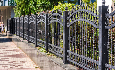 Wrought Iron Fence. Metal fence Fototapete