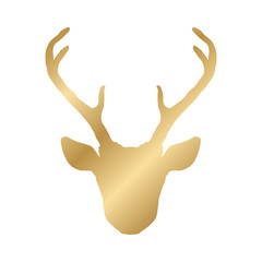 Hand drawn deer head silhouette