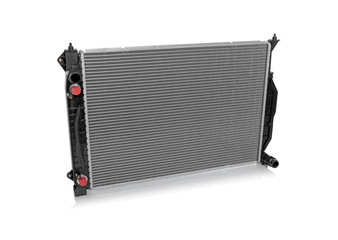 Car radiator isolated on a white background.
