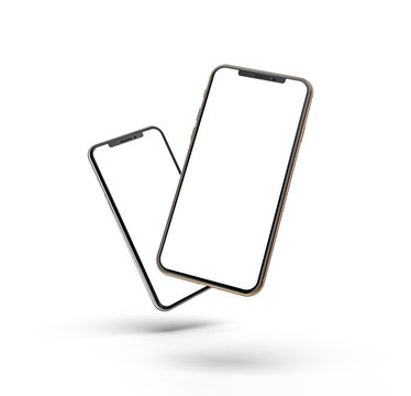 Smartphones design, template, isolated on white.  Design, mockup.