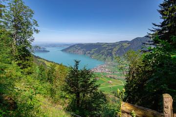 Zug Lake (Zugersee) - view from the hillside of Rigi - Arth, Switzerland