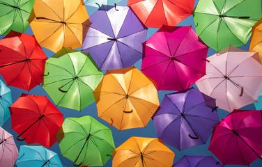 Colorful Umbrellas Urban Street Decoration Fototapete