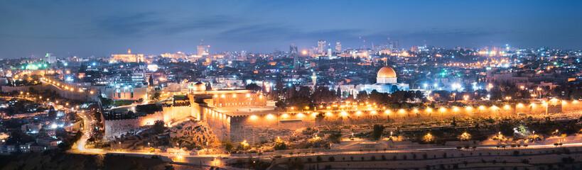 jerusalem city by night