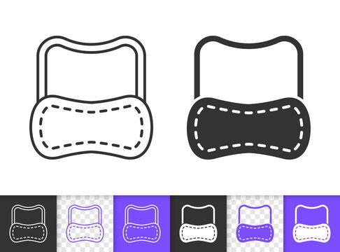 Sleep Mask eyemask simple black line vector icon