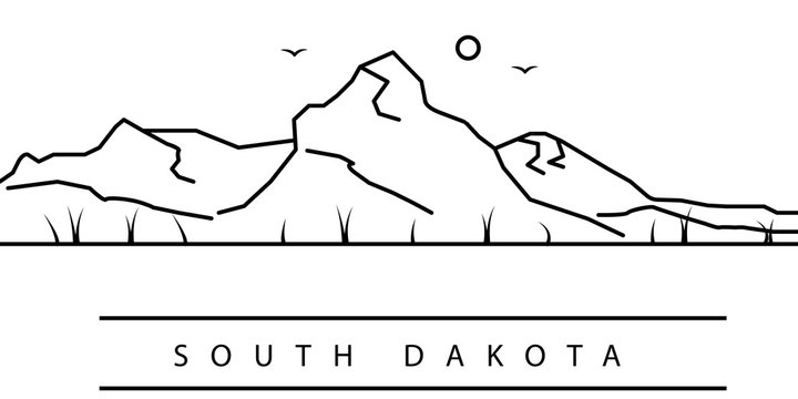 South Dakota city line icon. Element of USA states illustration icons. Signs, symbols can be used for web, logo, mobile app, UI, UX