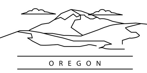 Oregon city line icon. Element of USA states illustration icons. Signs, symbols can be used for web, logo, mobile app, UI, UX
