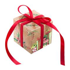Weihnachten Geschenke isoliert in rot grün