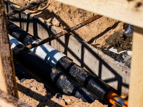 road repair works on replacement of pipelines