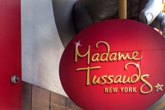 Detail of te Madame Tussauds New York. It is a wax museum established in 2000.