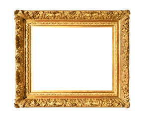 old wide baroque painting frame cutout