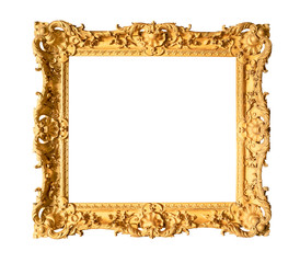 old wide ornamental baroque painting frame